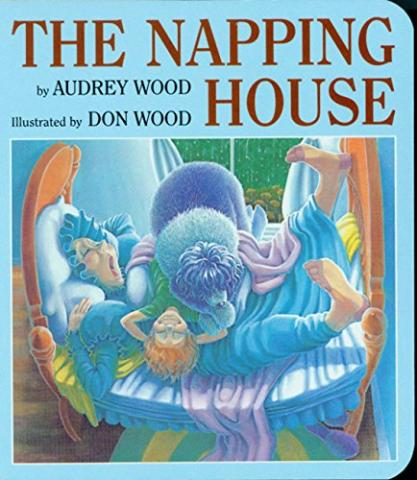 The cover of the popular book, The Napping House by Audrey Wood.