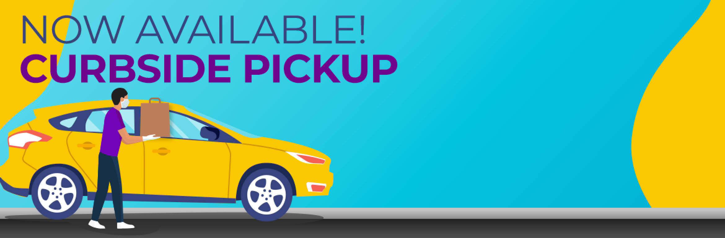 Now available! Curbside pickup